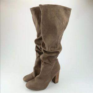 Report Shia Taupe Slouch Tall Knee High Boots 8.5